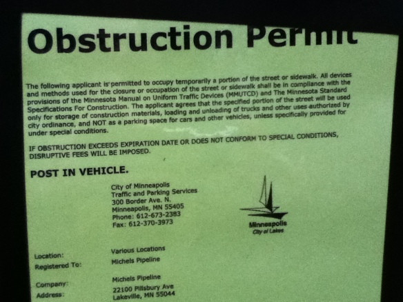Obstruction Permit