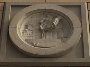 Tuesday -  Emblem on Wells Fargo Building