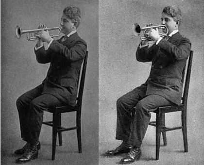 Franko Goldman playing the Trumpet and Cornet